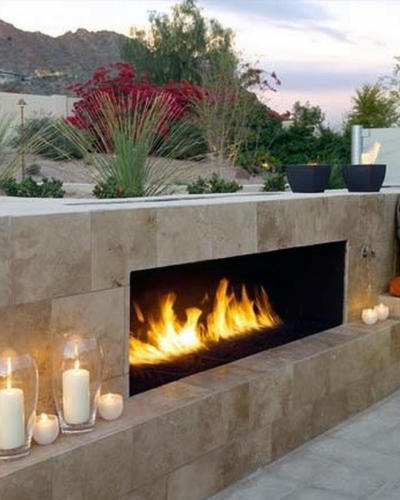 Fire Place Vertical Landscape Services In Dubai (1)